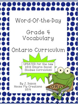 Word of the Day - Gr. 4