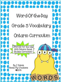 Word of the Day - Gr. 5