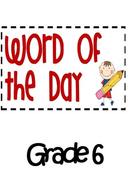 Word of the Day Grade 6