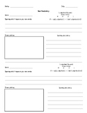 Word of the Day Graphic Organizer- new vocabulary