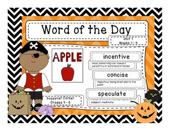 Word of the Day - Halloween Edition