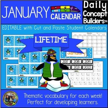 January Activity Calendar