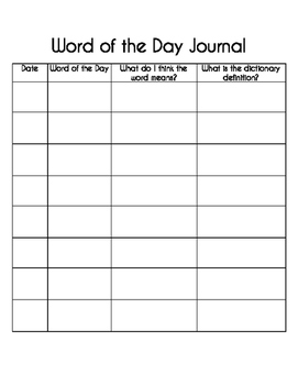 Word of the Day - Journal