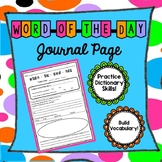 Word-of-the-Day Journal Page