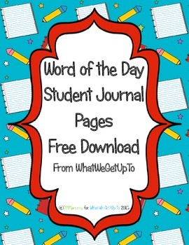 Word of the Day Journal Set Freebie