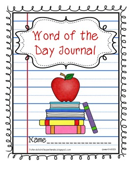 Word of the Day Journal / Vocabulary