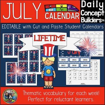 Word of the Day July Calendar