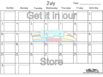 Summer Activities: July Calendar