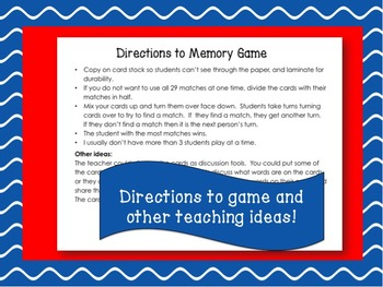 Word of the Day July Memory Game