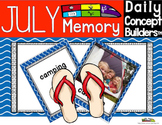 Summer Activities:  July Memory Game