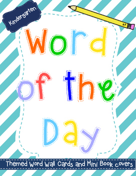 Word of the Day Kinder Packet