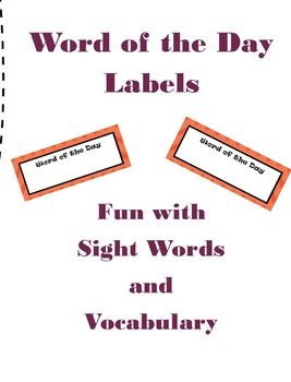 Word of the Day Labels
