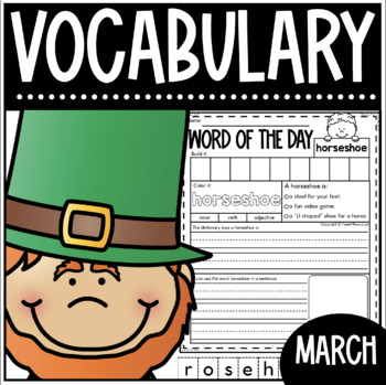 March Word Of The Day {Dictionary Skills}