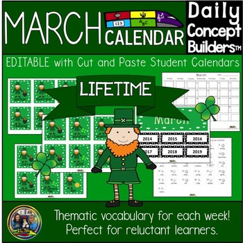 Word of the Day March Calendar