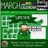 March Vocabulary Calendar