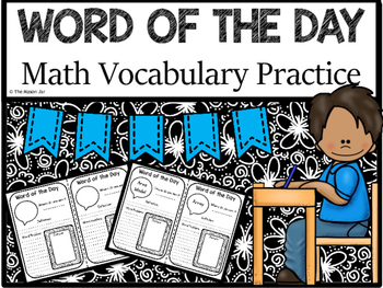 Word of the Day - Math Vocabulary Practice (4th Grade)