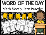 Word of the Day - Math Vocabulary Practice (5th Grade)