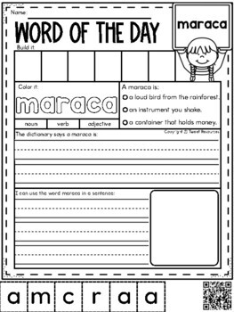 Word Of The Day May Vocabulary Printables For The Primary Classroom