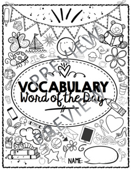 Word of the Day Notebook
