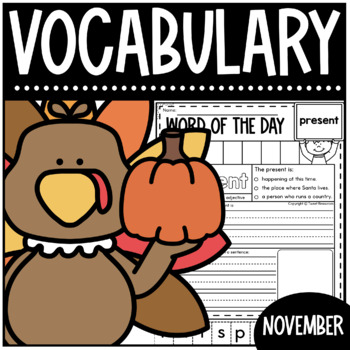 November Word Of The Day {Dictionary Skills}