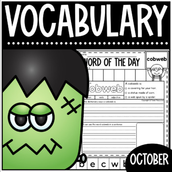 Word Of The Day October Vocabulary Printables For The Primary Classroom