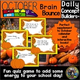 Fall Activities for October Vocabulary