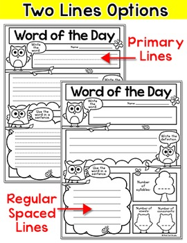 Word of the Day - Owl Theme
