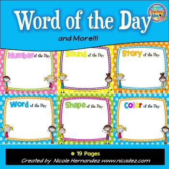 Word of the Day Posters and More