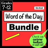 BUNDLE Word of the Day Preparing for the S.A.T. PowerPoint & Task Cards