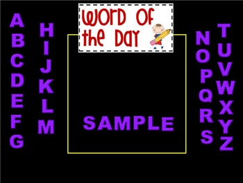 Word of the Day, Purple Letter Mix