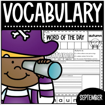Word Of The Day September Vocabulary Printables for Primary Classrooms