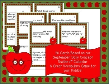 Back to School Word of the Day Brain Bounce Game