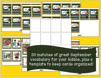 Word of the Day September Memory Game