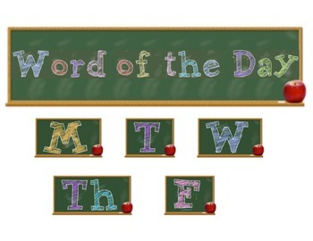 Word of the Day Sign Set