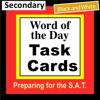 Word of the Day Task Cards