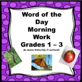 Word of the Day Template for Morning Work Grade 1-3