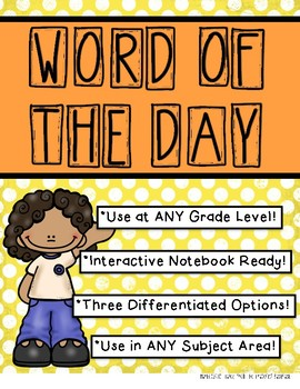 Word of the Day Templates