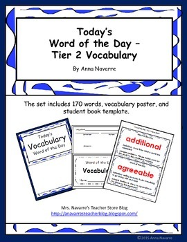 Word of the Day - Tier 2 Vocabulary