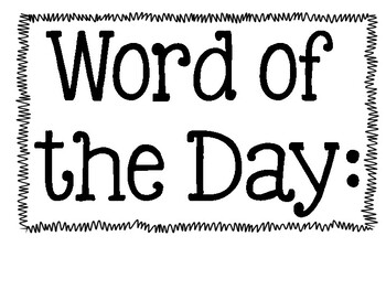 Word of the Day & Trick Words