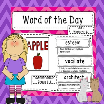 Word of the Day - Unit 3 - Third 9 Weeks