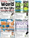 Word of the Day - Vocabulary - Inventions BUNDLE - 4 Weeks