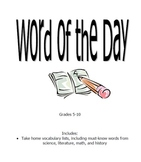 Word of the Day Vocabulary List