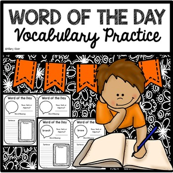 Word of the Day Vocabulary Practice (2nd Grade)