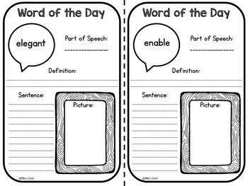 Word of the Day Vocabulary Practice (3rd Grade)