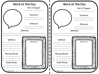 Word of the Day Vocabulary Practice (4th Grade)