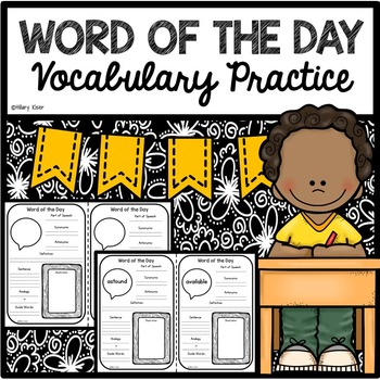 Word of the Day Vocabulary Practice (5th Grade)