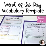 Word of the Day Vocabulary Template