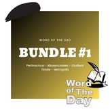 Word of the Day - Bundle #1
