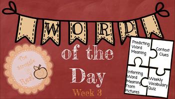 Word of the Day Week 3 Bundle