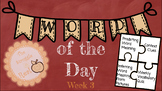 Word of the Day Week 3 Bundle